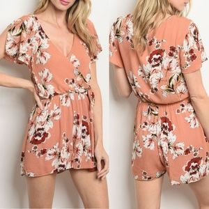Mauve Floral Romper {Everly}